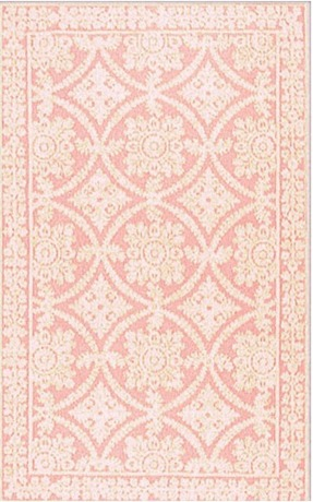 Romantic Chic Romantic Lace Rosa Contemporary Rug