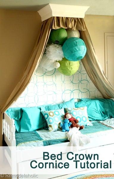Simple Bed Crown Cornice Tutorial
