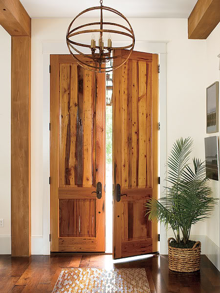 Southern Living rustic doors
