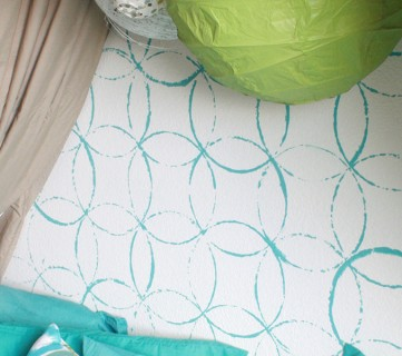 Stenciled wall tutorial