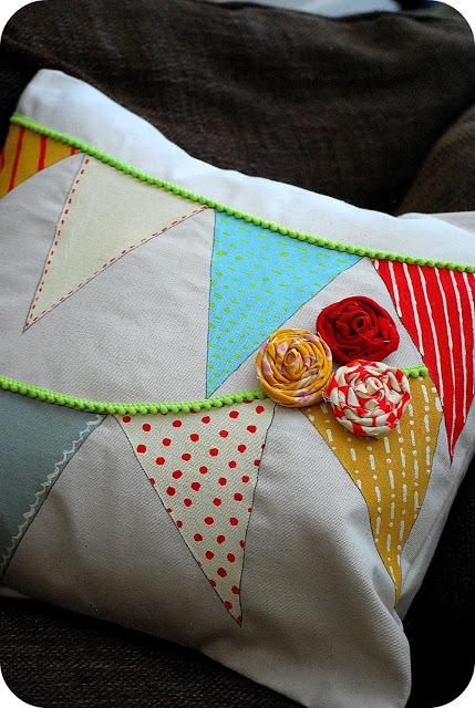 Tatertots & Jello pennant pillow