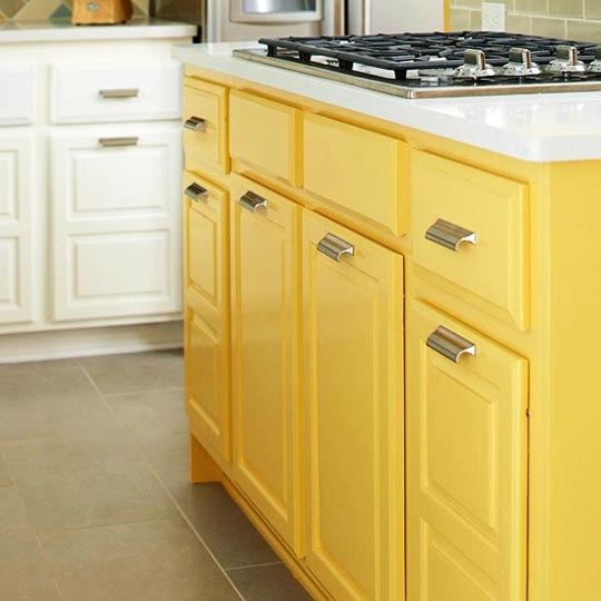 Furniture Kitchen Cabinets: Beautifully Colorful Painted Kitchen Cabinets