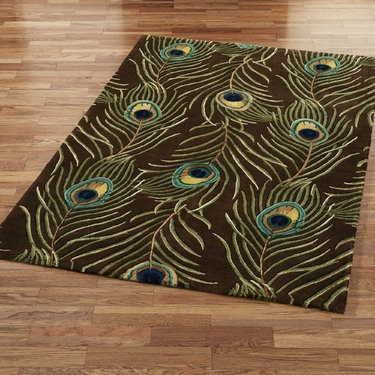 Touch of Class peacock rug