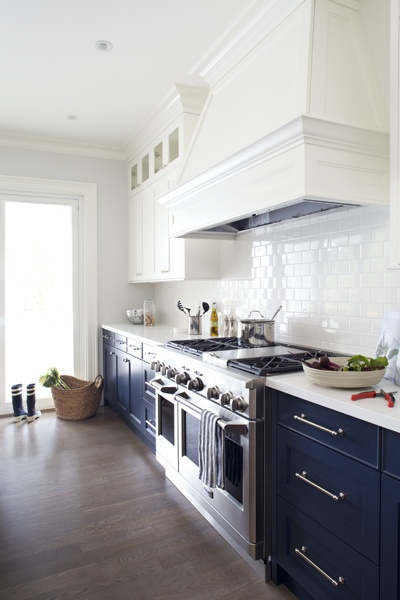 Navy Blue Lower Cabinets Western Living Magazine