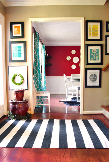 Young House Love bold entry