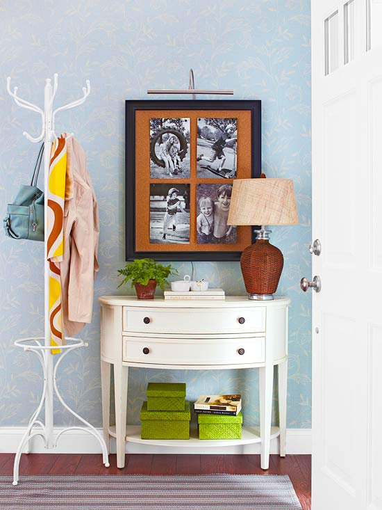 25 ways to decorate a console table diy for Decor zone homes
