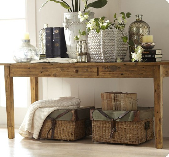 pottery barn keaton console table how to decorate a console table