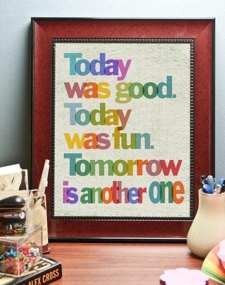rainbow printable inspiration quote