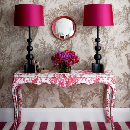 shabby magenta flash decor