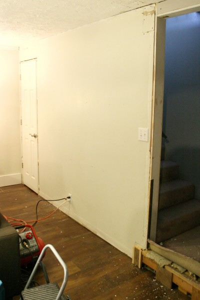 Before Wall- board and batten transforamtion