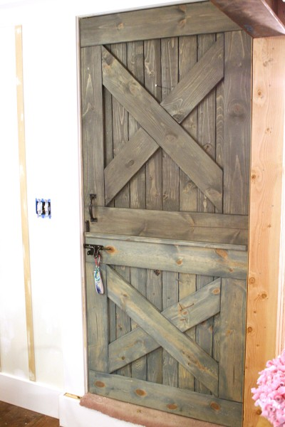 Wood Stained Barn Door