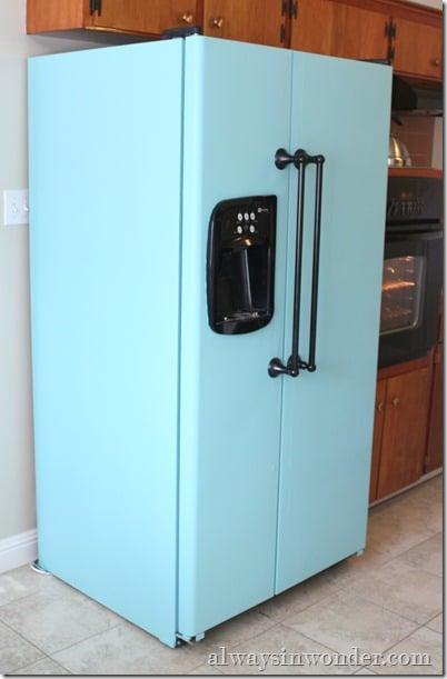 Always in Wonder turquoise fridge