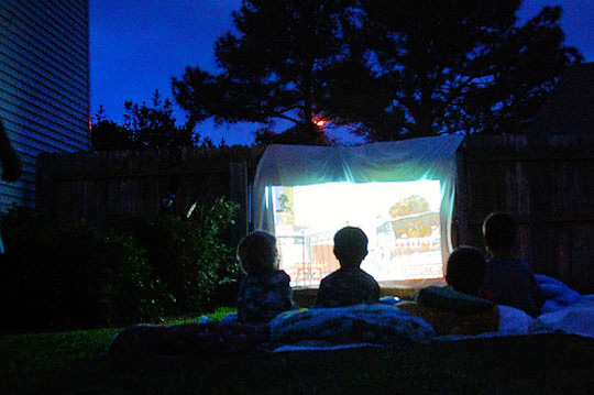 Apartment Therapy backyard movie