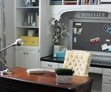 Amazing Office Redo on a $500 Budget!  {With a Tutorial!}