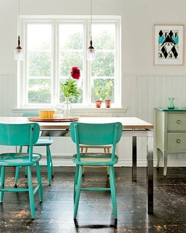 Great painted accent furniture for Bright colored side tables