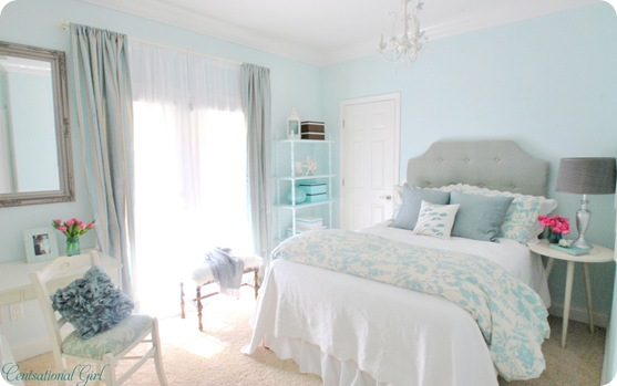 Bedroom In Soft Blue And Gray Centsational Girl