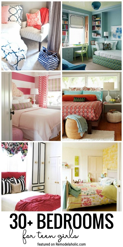 Create A Beautiful Bedroom Space That Fits Her Personality With These 30+ Bedrooms For Teen Girls. Great Ideas In A Lot Of Different Styles Featured On Remodelaholic.com