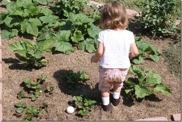 Etta in the garden