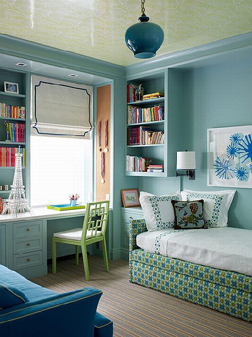 Interior Blue Green Bedroom remodelaholic 30 bedrooms for teen girls home edit blue and green room