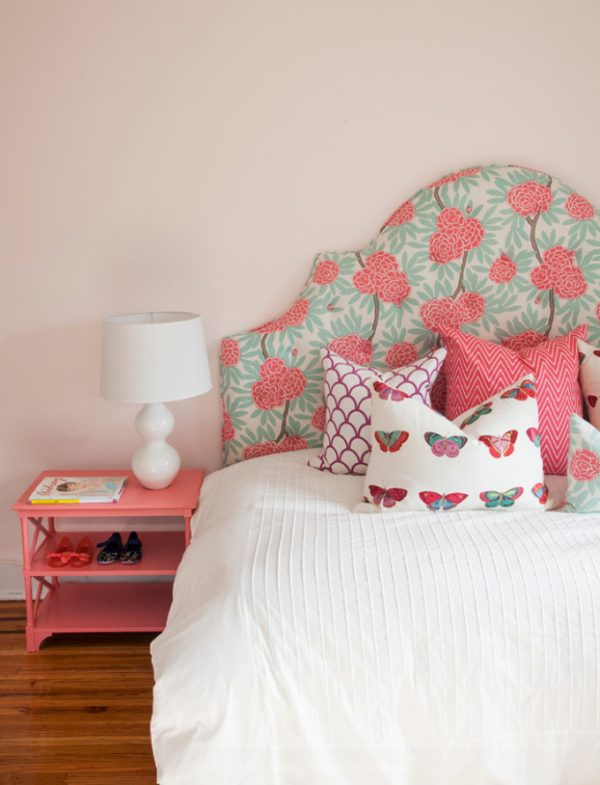coral girls bedroom