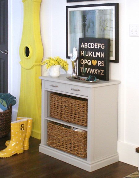 How To Build A Console Table From Wooden Card Tutorial Storage
