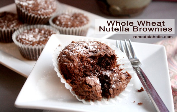 Remodelaholic | Whole Wheat Nutella Brownies Recipe
