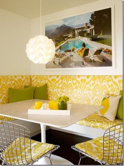 Pinterest mod lemom & lime banquette