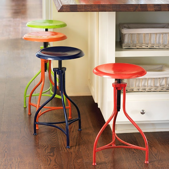 Pinterest painted metal lab stools