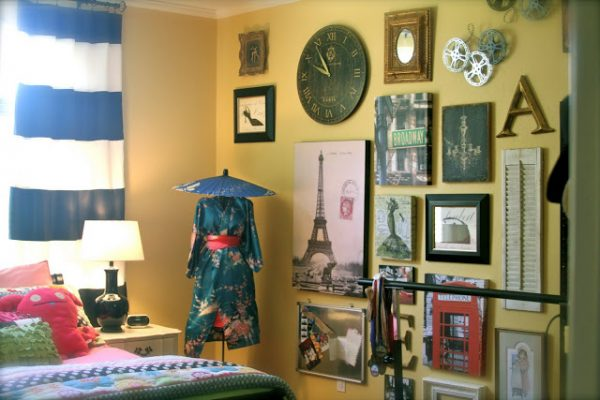 Remodelaholic collage wall bedroom
