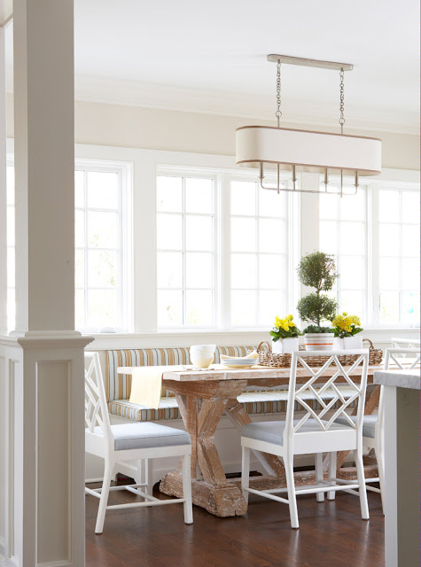 Remodelaholic trending now kitchen seating - Lit banquette double ...