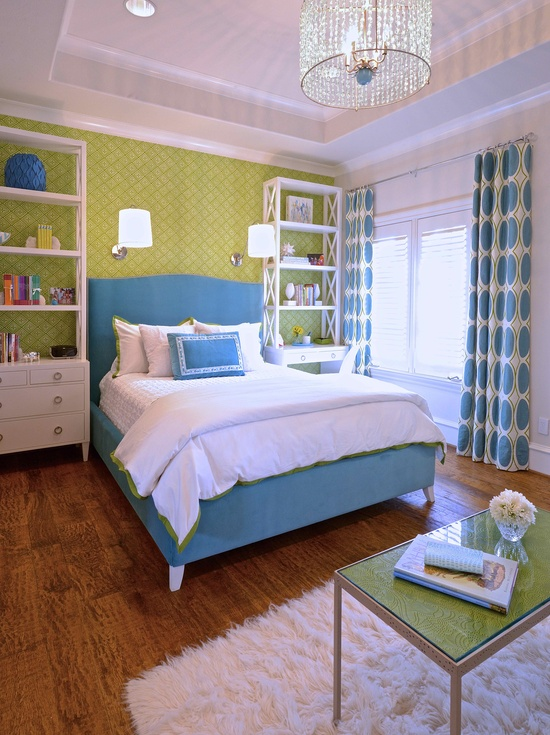 Remodelaholic 30 bedrooms for teen girls for Blue and green girls bedroom ideas