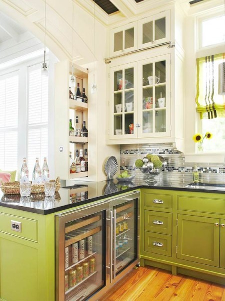Avacado Green Base Cabinets