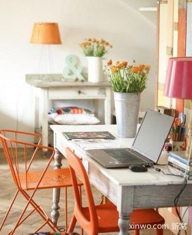 orange accent room Painted Accent Furniture