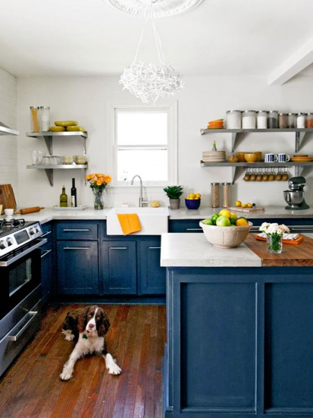 royal blue kitchen base cabinets better homes and gardens