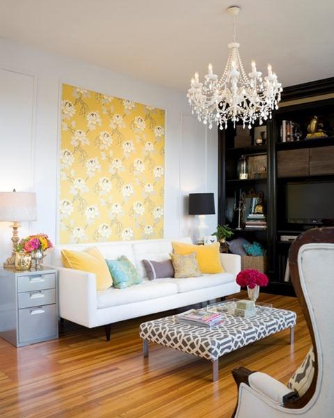 yellow interior wall