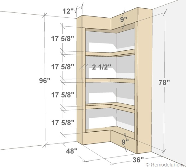 bookshelf design dimensions