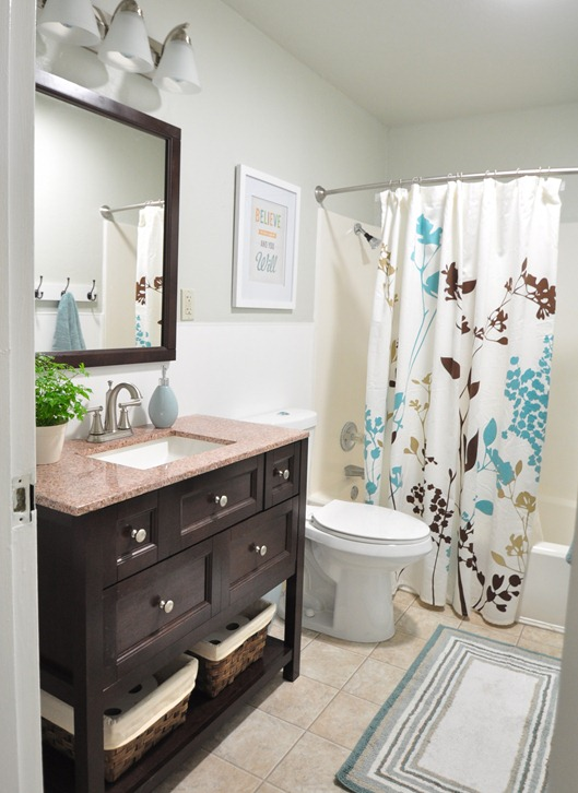 Cute Centsational Girl bathroom remodel