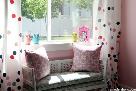 Girls pink and navy bedroom decorations (17)