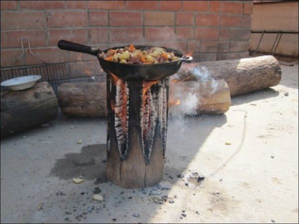 Twisted Sifter log stove