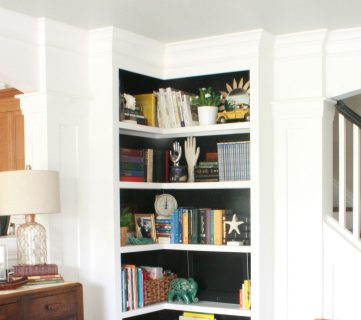Built-in Corner Bookshelves