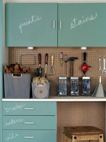 chalk paint garage cabinets BHG