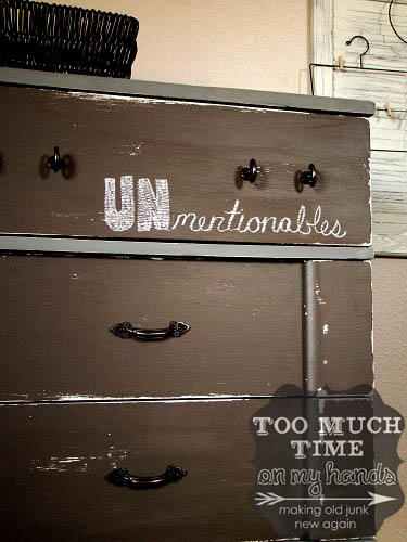 chalkboard paint dresser redo, Too Much Time