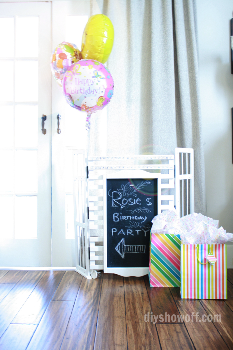chalkboard sign scoreboard or pet gate from a bookshelf, DIY Showoff