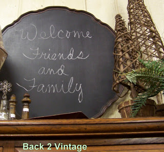 chalkboard painted upcycle table top