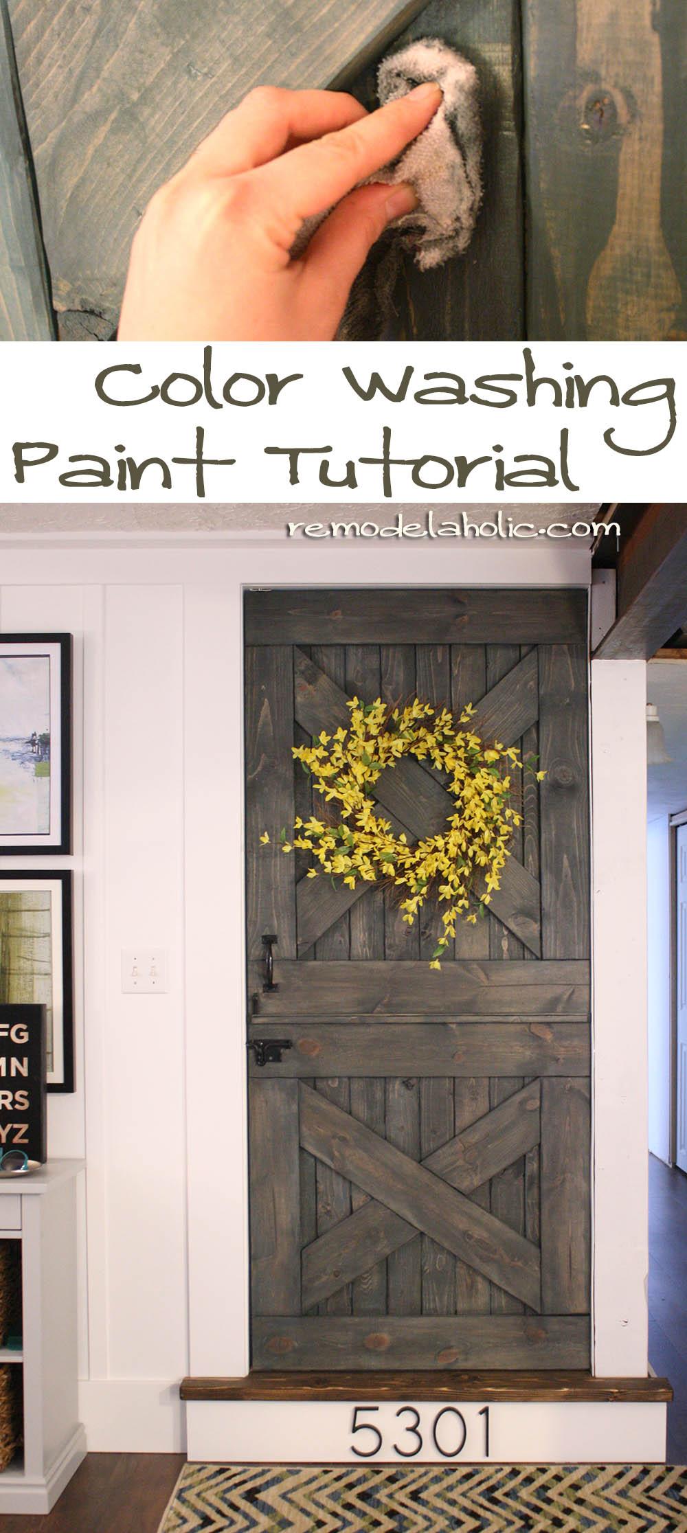 Rustic wood grain rustic wood furniture grain - Color Washing Paint Technique Wood Grain Still Shows Barn Door Paint Barn_door