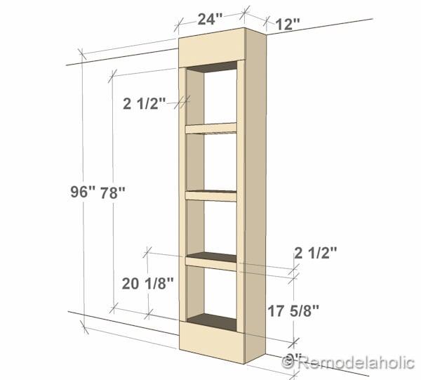 how to build a corner bookshelf