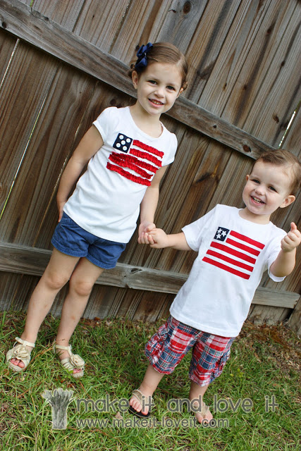 make your own flag shirts for the 4th of July