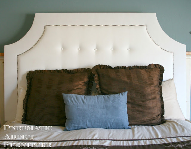 Build A Tufted Headboard With Nail Head Trim Remodelaholic