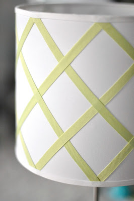 diy ribbon trellis lamp shade