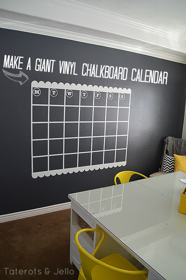 Remodelaholic top ten chalkboard paint projects and link for Vinyl calendar template